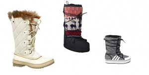 Val op met je snowboots!