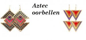 Aztec oorbellen
