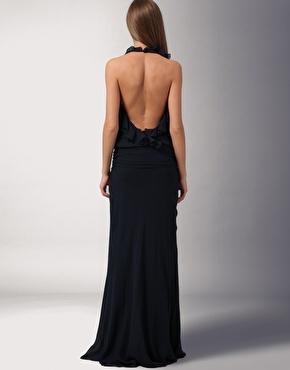 maxi jurk met open rug