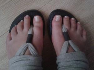 Mooie voeten met French Pedicure!