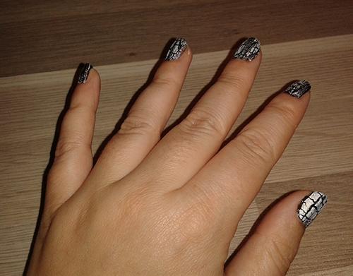 resultaat hand cracking nagellak