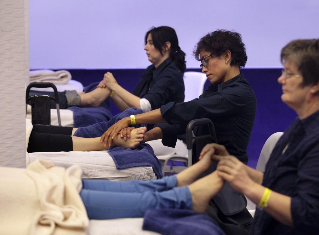huishoudbeurs voetmassage