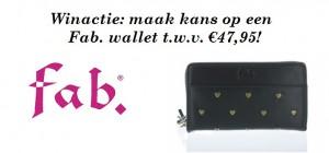 Winactie: maak kans op een Fab. wallet t.w.v. €47,95