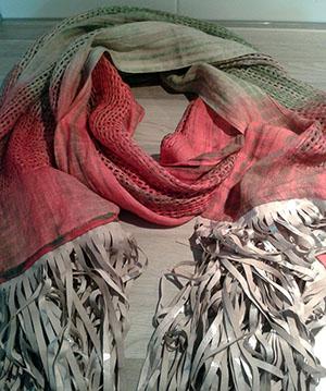 ruffel sjaal